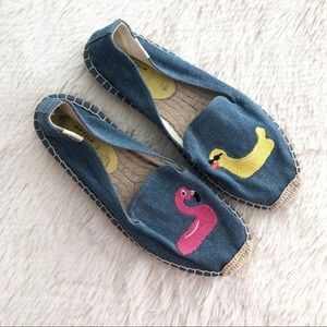 FINAL Soludos Mary Matson Denim Duck Flamingo Flat